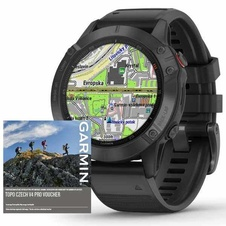 Garmin Fenix 6 PRO Glass, Black/Black Band (MAP/Music)