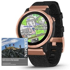 Garmin Fenix 6S PRO Sapphire, RoseGold/BlackNylon Band (MAP/Music)