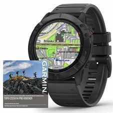 Garmin Fenix 6X PRO Glass, Black/Black Band (MAP/Music)