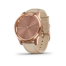 Garmin Vivomove 3 Luxe, 18K RoseGold/SandLeather Band